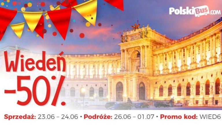 PolskiBus: 50% urodzinowego rabatu do Wiednia!