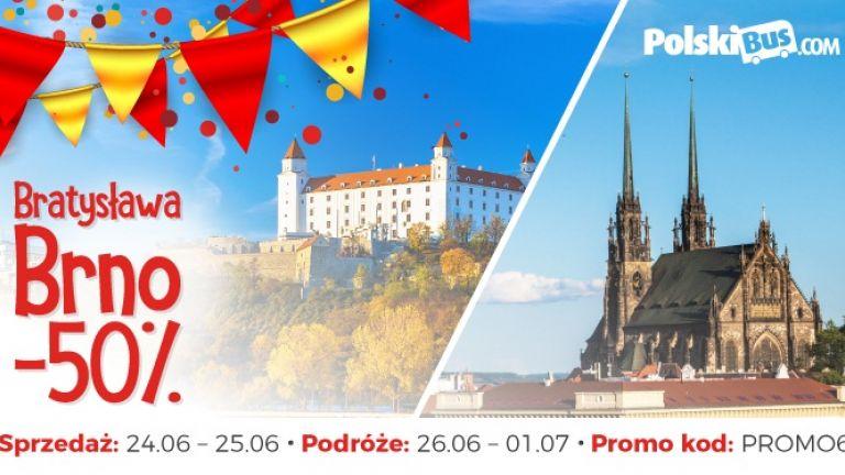 PolskiBus: 50% urodzinowego rabatu na Bratysławę lub Brno!