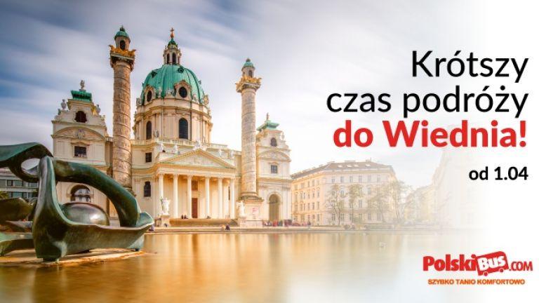 PolskiBus: krótszy czas podróży do Wiednia!