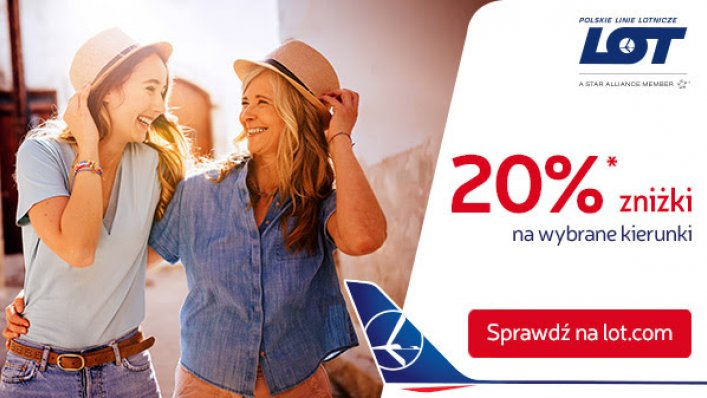 20% zniżki z okazji Dnia Matki w Polskich Liniach Lotniczych LOT!