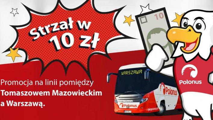 Bilety z Tomaszowa do Warszawy za 10 zł – tylko do 29.08!