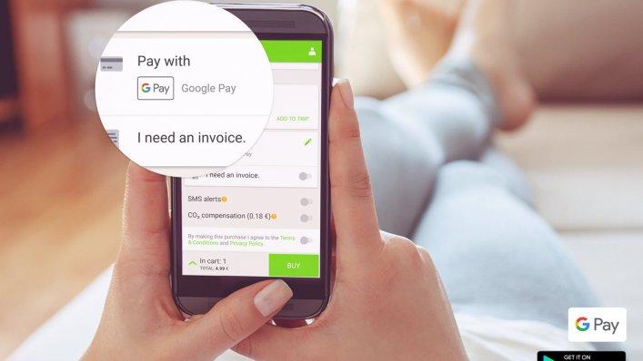 Google Pay we FlixBusie