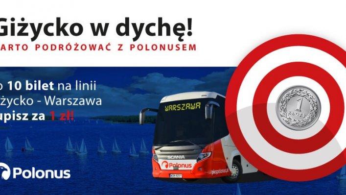 Kolejna trasa objęta promocją Polonus co 10 bilet za 1 zł!