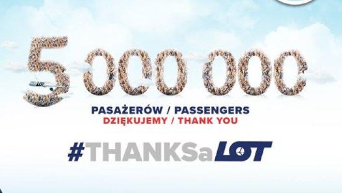 Konkurs LOT - 5 milionów pasażerów
