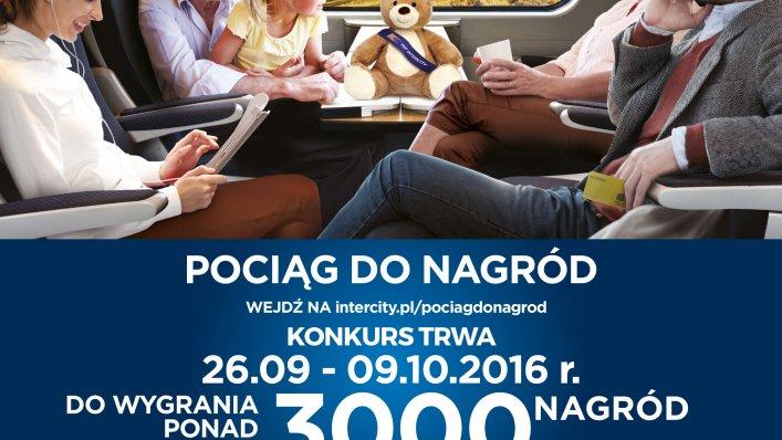"""Konkurs PKP Intercity """"Pociąg do nagród""""!"""