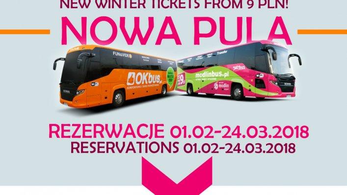 Modlinbus oraz OKbus uruchomili nową pul biletów od 9 PLN!