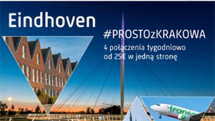 Nowe połączenie z Krakowa do Eindhoven