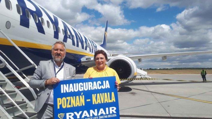 Pierwszy lot Ryanair na trasie Poznań – Kawala