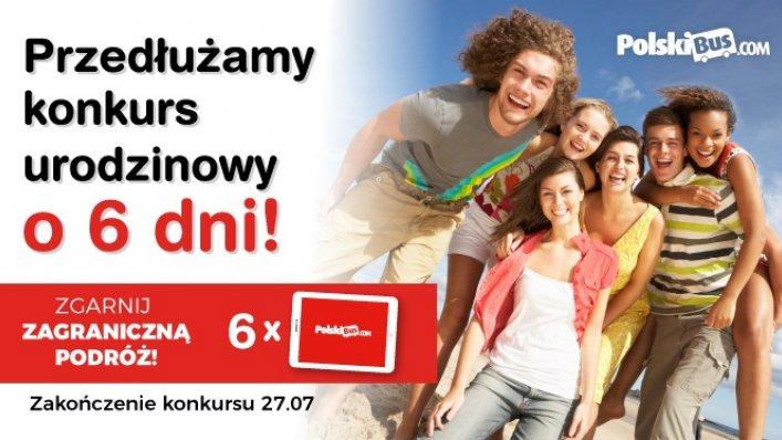 PolskiBus przedłuża konkurs urodzinowy!
