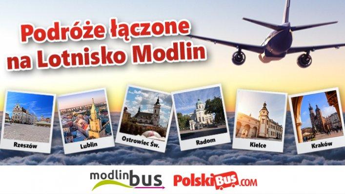 PolskiBus rozszerza współprace z ModlinBus oferując nowe połączenia na Lotnisko Modlin!