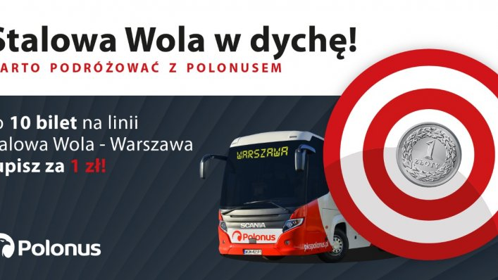 Promocja Polonus - co 10 bilet za 1 zł