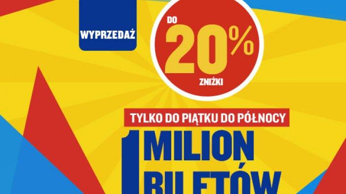 Ryanair: do 20% zniżki na 1 milion biletów!