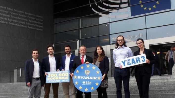 Trzecia rocznica współpracy Ryanair i ESN