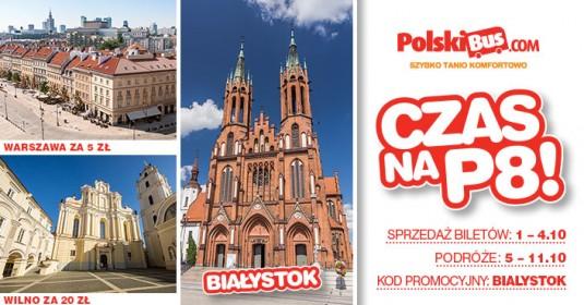 Kod promocyjny na PolskiBus: P8 od 5 PLN!