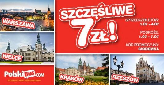 Kod promocyjny od PolskiBus: Szczęśliwa Siódemka 4