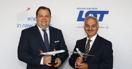 LOT i Turkish Airlines podpisały strategiczne partnerstwo w kierunku przyszłej umowy Joint Venture