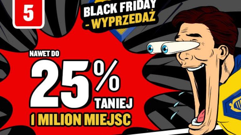 Ryanair: Nawet do 25% taniej 1 milion miejsc w promocji Black Friday!